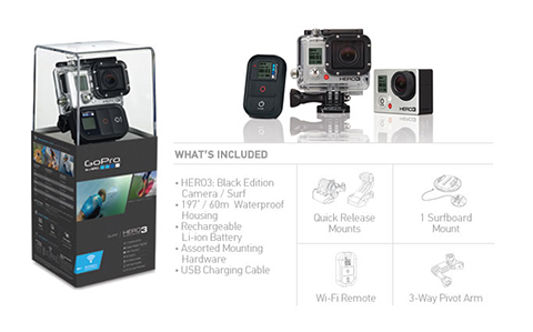 Kamera GoPro HERO3 Black Edition Surf