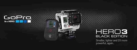 Kamera GoPro HERO3 Black Edition on black