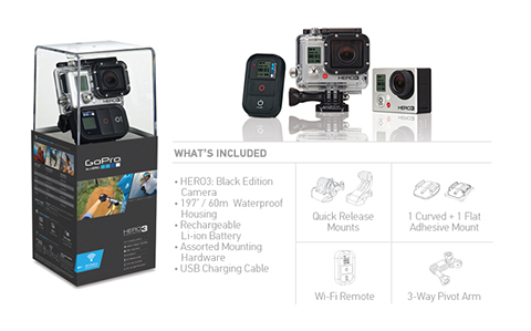 Kamera GoPro HERO3 Black Edition