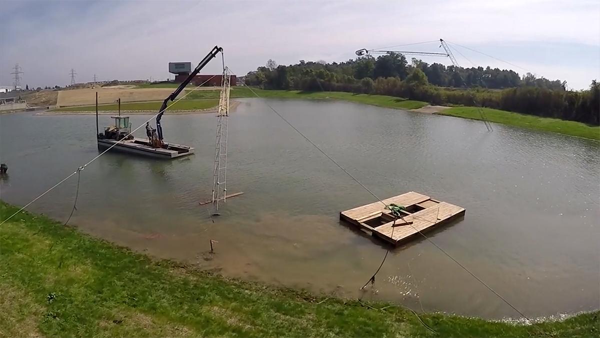 Budowa wyciągu do nart wodnych i wakeboardu 4