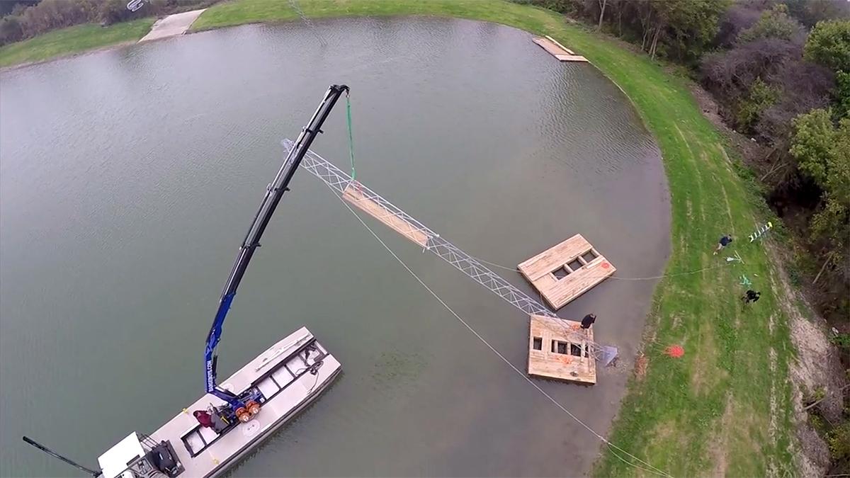 Budowa wyciągu do nart wodnych i wakeboardu