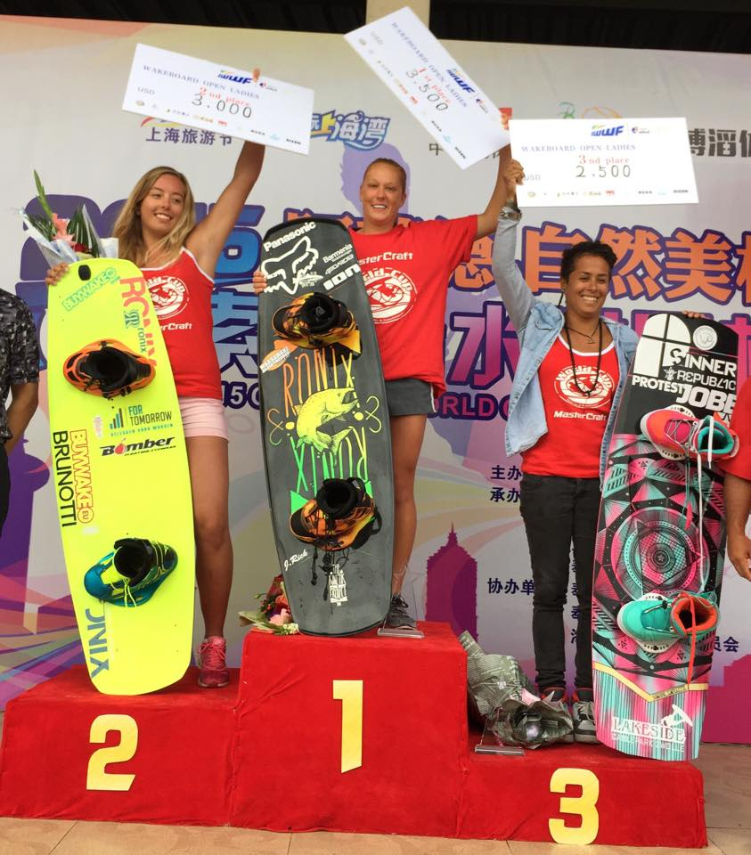 Podium Wake Ladies SHANGHAI WORLD CUP 2015
