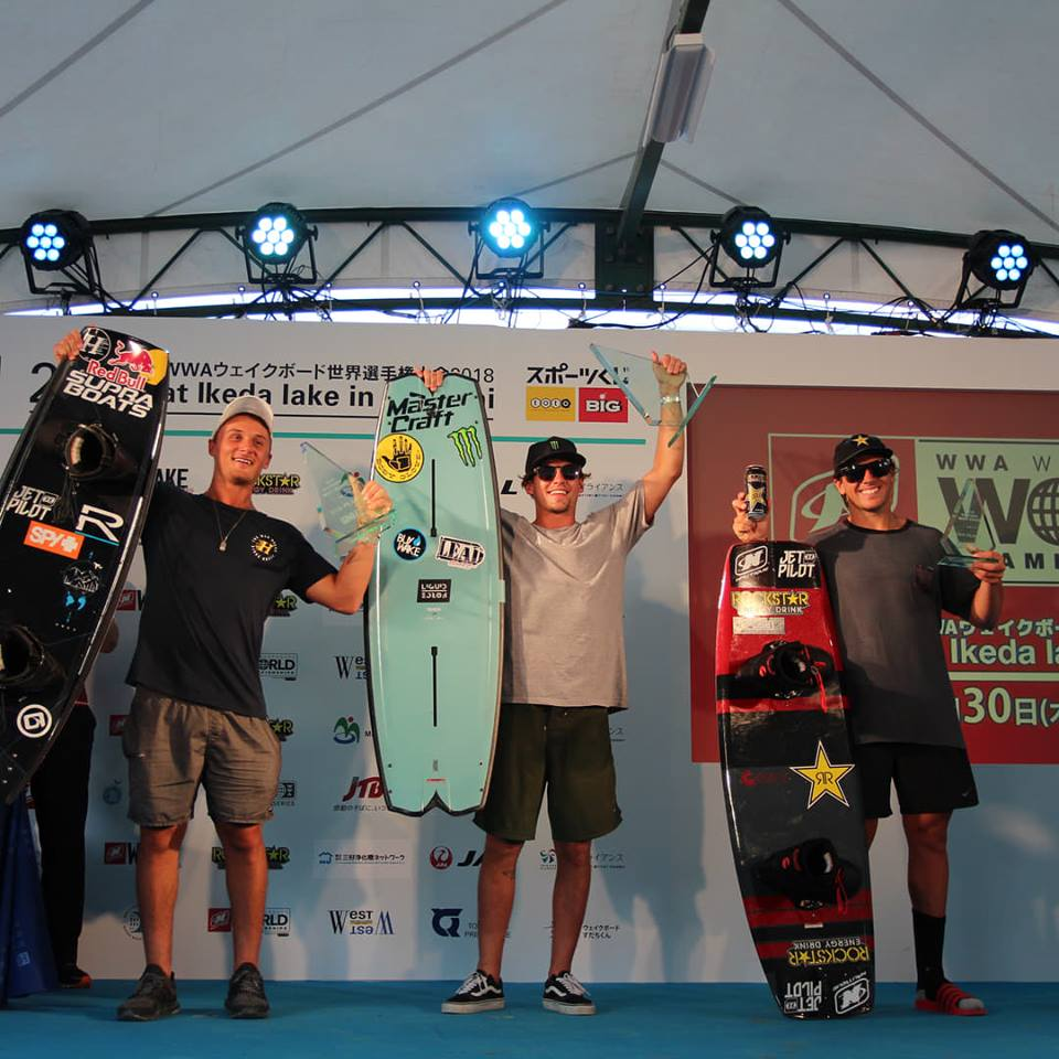 Australian Harley Clifford and Meagan Ethell (USA) win the 2018 Nautique WWA Wakeboard World Championships in Miyoshi City_2
