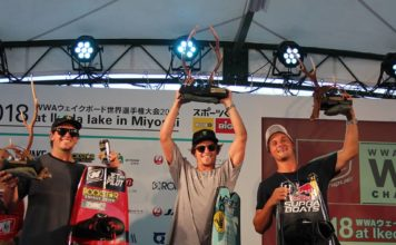 Australian Harley Clifford and Meagan Ethell (USA) win the 2018 Nautique WWA Wakeboard World Championships in Miyoshi City_3